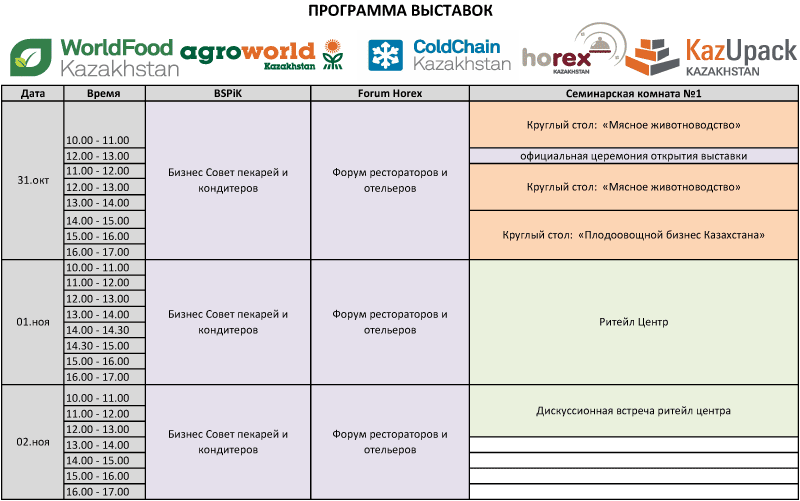 Timetable WFK seminars